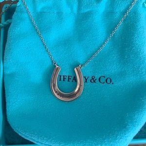 Tiffany Sterling Silver Rubedo Horseshoe Necklace